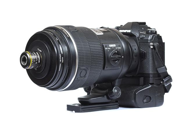 Infinity objective on telephoto lens